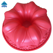 FDA Beautiful Flower Shape Barking Silicone Cake Mold
