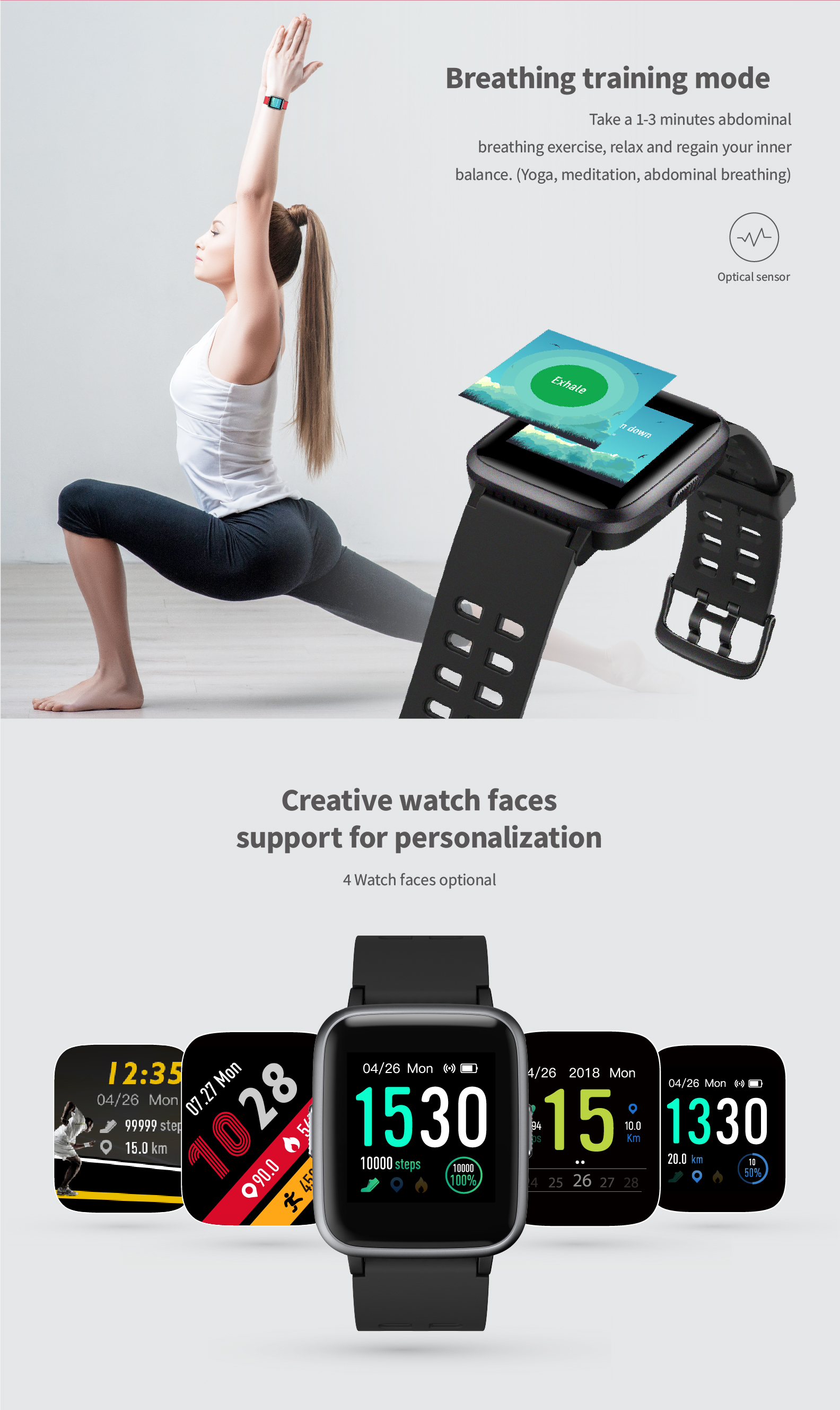 Ido ip68 bluetooth sport waterproof smart watch