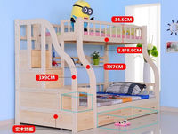 Full Pine Finish Wood & wood Convertible Bunk Bed