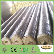 Fireproof Cast Basalt Pipes,120kg/m3 Basalt Rock Wool Insulation