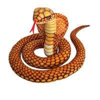 Custom cobra doll realistic plush stuffed golden snake toys