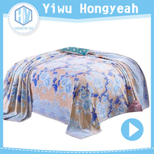 China blanket high quality chunky knit custom print muslin blanket