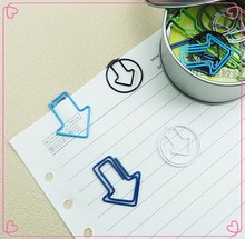 Promotional PET Coated decorative arrow shaped metal paper clip