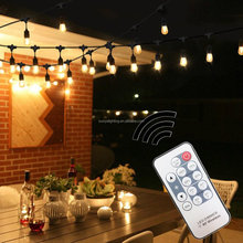 Outdoor Waterproof patio string light Wireless Remote Control Dimmable Outdoor LED String Lights