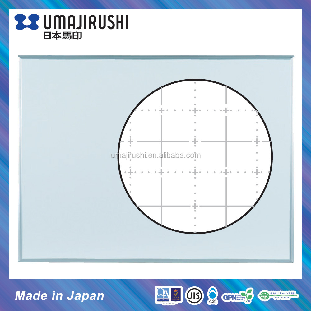 Made in Japan Enamel Magnetic Whiteboard in 50mm Grid Line printing