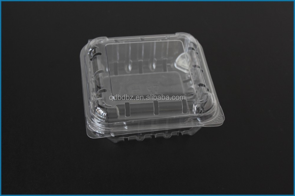 PS PET PVC rectangle clear/transparent plastic food/fruit container/box/packaging with lid/mug/cover