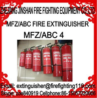 MFZ4 4kg ABC dry powder chemical fire extinguisher