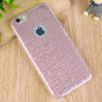 Luxury Ultra-thin 3D Glitter Bling Soft TPU Back Mobile Phone Case for iphone 6 6S