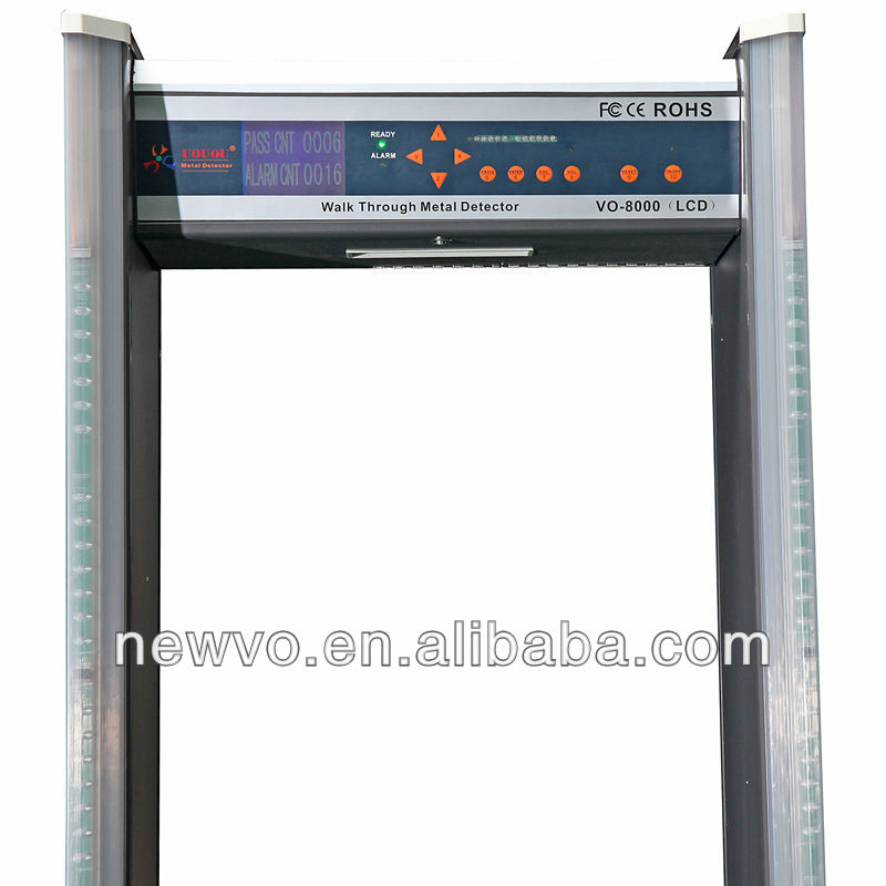 Enhanced Multi-Zone Walk-Through Metal Detector