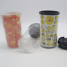 Wholesale cheap plastic starbucks tumbler with different paper inserts DIY