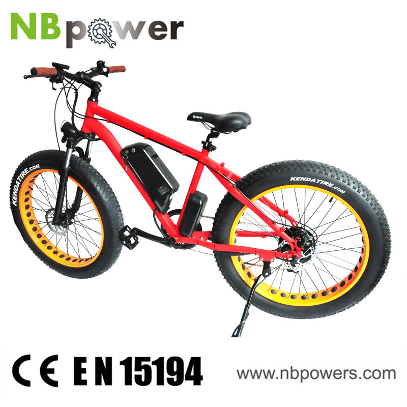 26 Inch Orange Electric Beach Cruiser Bicycle