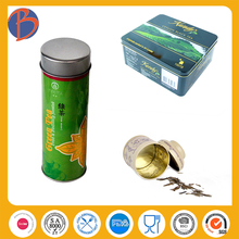 square special tea tin container for green tea