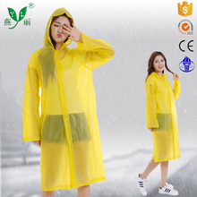 fashion unisex hooded raincoat bike yellow rain poncho bicycle rainwear waterproof rain coat-red
