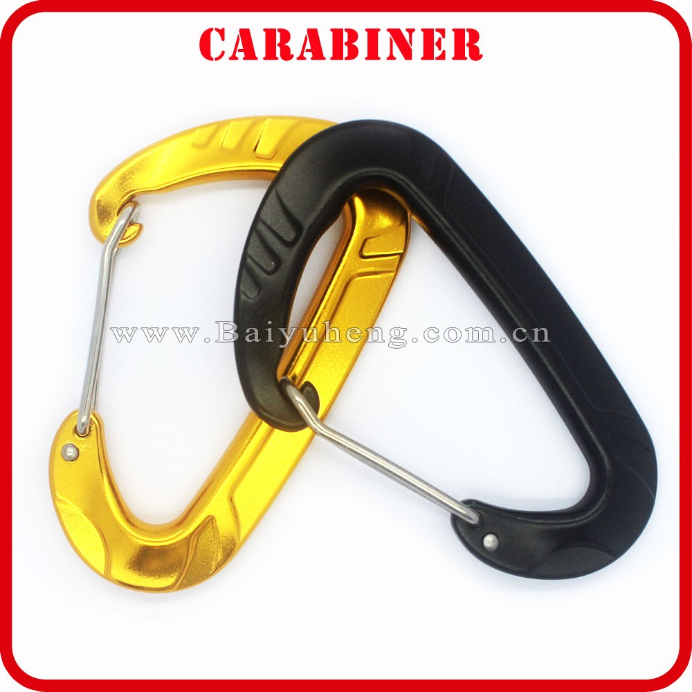mini carabiner wholesale promotional yellow carabiner