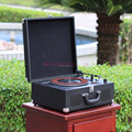 OEM portable suitcase turntable usb sd bluetooths vinyl record player