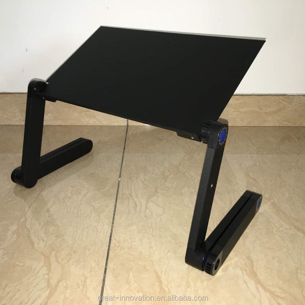 Multi Black Portable Laptop Aluminum Computer Stand with Mouse Pad