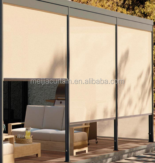 Beatiful Outdoor Blackout Vinyl Roller Shades for decorative