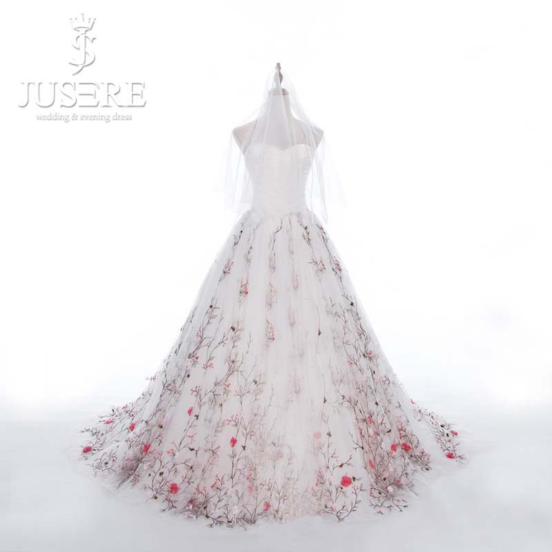 New Arrival Fabulous Sweetheart Neck Pleated Embroidered Real Sample Wedding Dresses Removable Skirt 2015