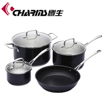 Nonstick stainless steel kitchenware pots and pans set