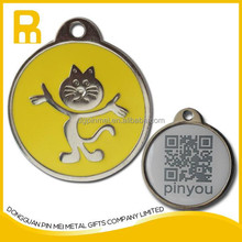 Unique and fashion Brightest And Most Colorful Stylish Custom qr code Pet Id Tag for lost pet