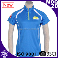 BSCI/ISO9001 2017 customed zipper collar design polo shirts