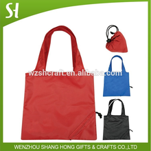 Strawberry shape polyester shopping bag/small custom foldable printed shopping bag