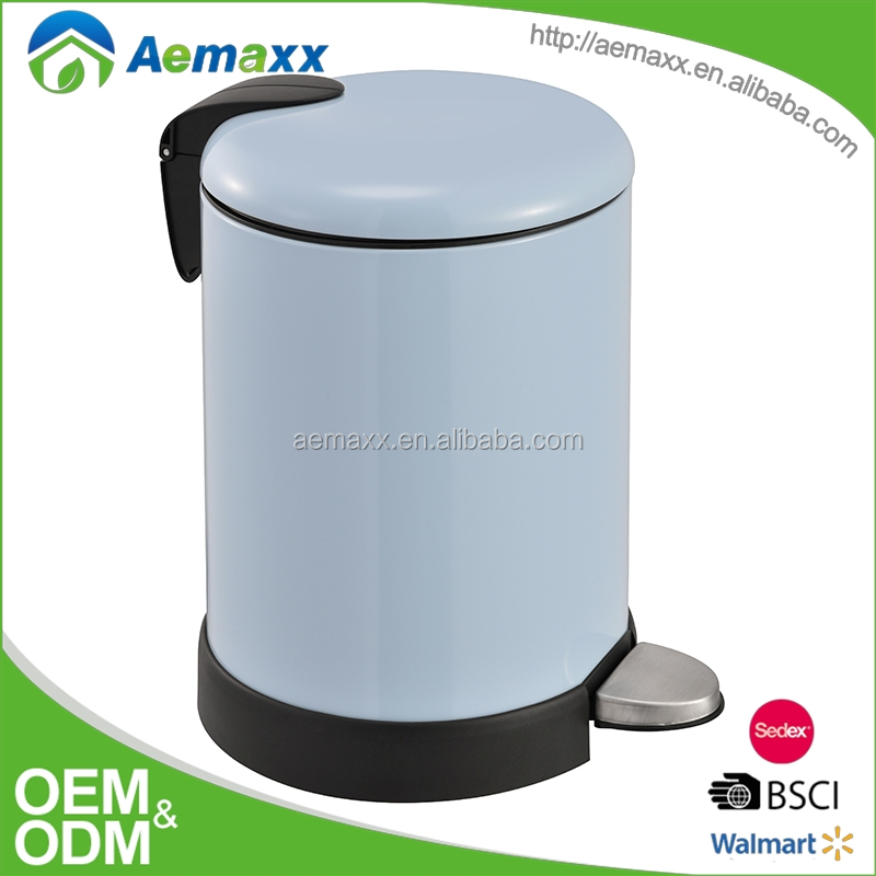 Round Brushed Stainless Steel SS Step bathroom dust bin