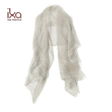 Women Latest Design 70% Silk and 30% Cotton Blend Long Big Shawl