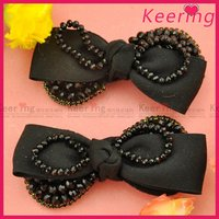 wholesale black shoes accessories fabric flowers for shoes WSF-020