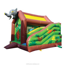cheapest and High-quality EN71 certificated inflatable dinosaur game bouncer for Wholesale