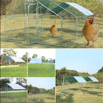 large walk in chicken run 6 sizes coop poultry hen rabbit dog waterfowl pet cage