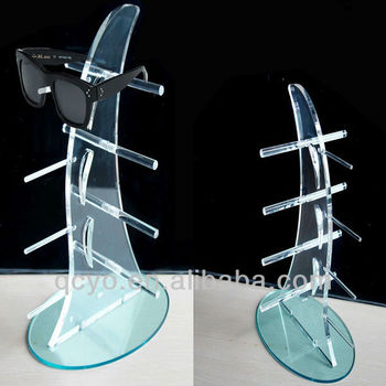6 pairs Acrylic Sunglasses Display Stand
