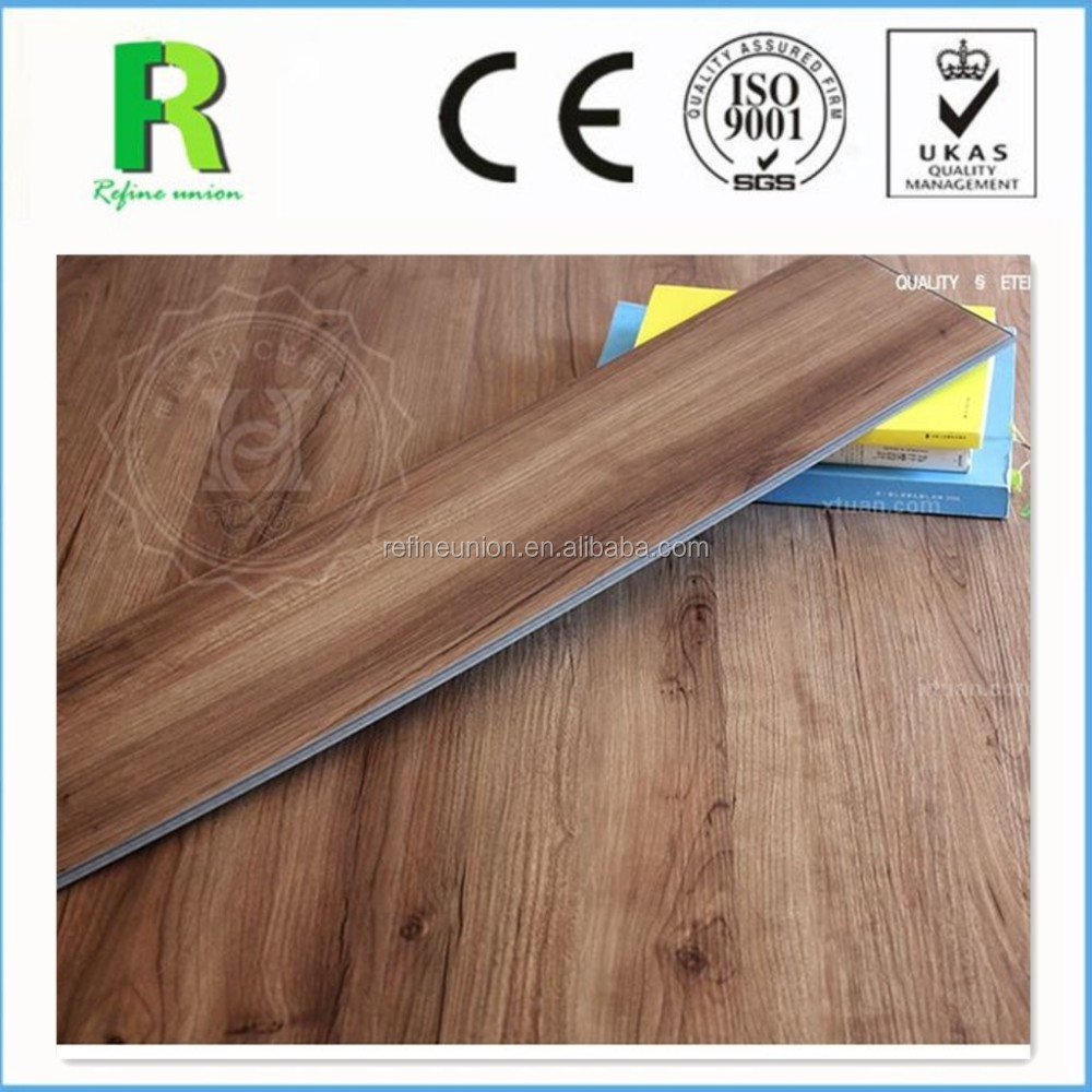 easy cleaning and maintenance UV-coating surface treatment PVC click lock Vinyl flooring tile