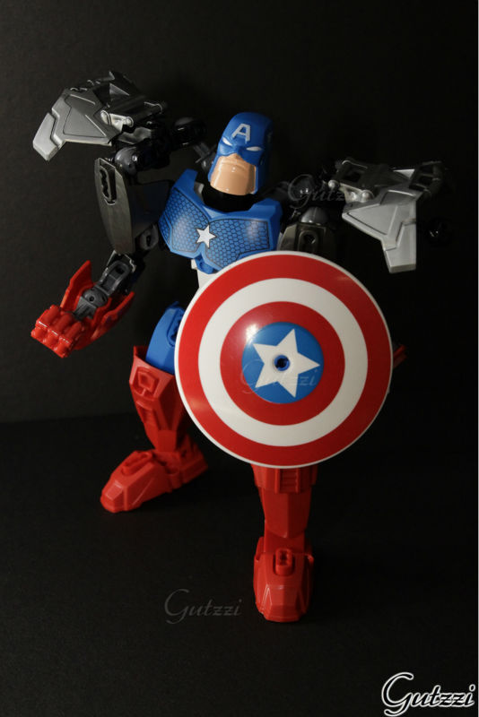 Decool Captain America free moving joint Super Heroes model adornament action figure