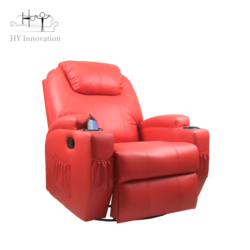 European Luxury Leather Automatic Recliner Sofa Single Chair Push Back Sofa