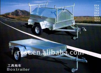 Hot dipped galvanized box trailer