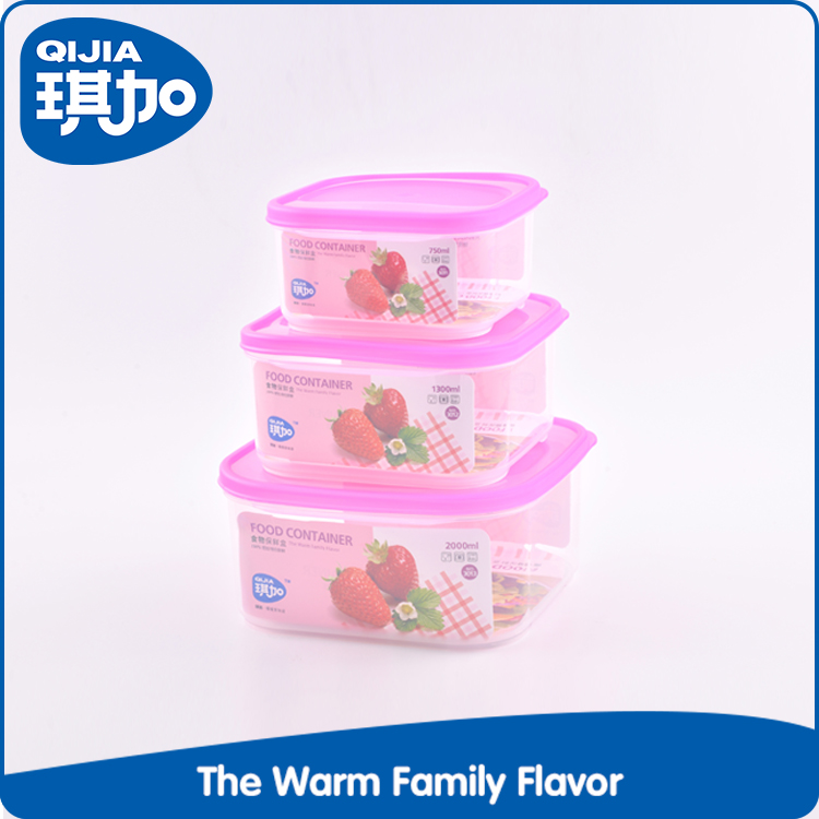 Kitchenware multi-size plastic stackable food container set