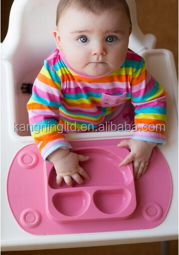 Silicone Mini kids placemat for Highchair and Travel Feeding