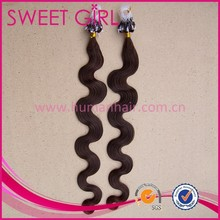 22 inch body wave 100 percent indian remy virgin human micro ring hair factory