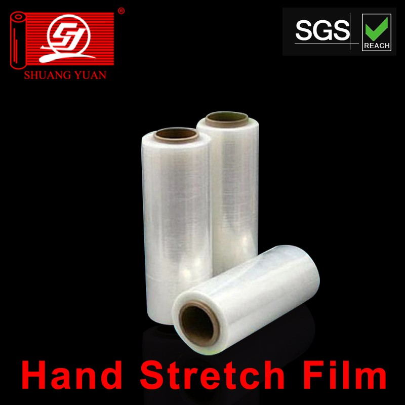 white clear hank stretch film 3 layer handle roll strech for packing