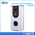 PIR motion detection Doorbell with metal housing wireless video doorbell camera with battery