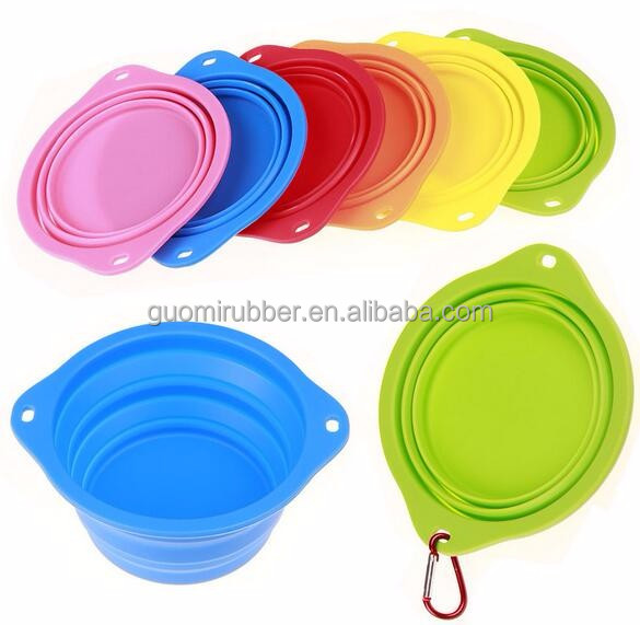 Food grade FDA approve silicone big dog bowl for travel