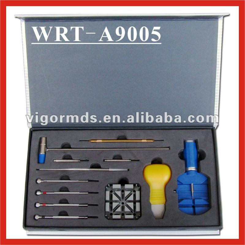 (WRT-A9005) Watch Repair Tool Kit w/ Band Link Remover, Sizing Tool, and Storage Case