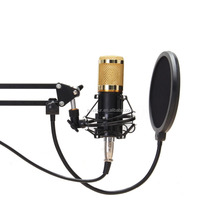 BM800 Condenser Microphone Kit Shock Mount Sound Record Cable Anti-Wind Cap