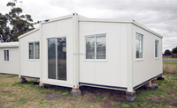 20ft 40ft Foldable Modern Luxury Hotel Home Expandable Prefabricated Container House / New Low Cost