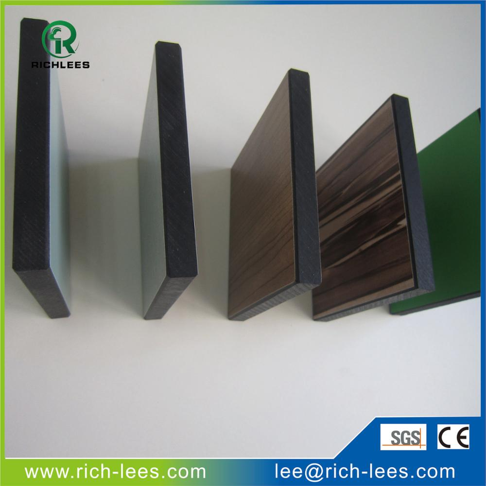 Richlees waterproof wholesale laminated hpl sheet manufacturer