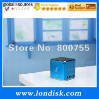 Colourful cube speaker / TF card Music Angel MD07 / cute speaker with FM Radio