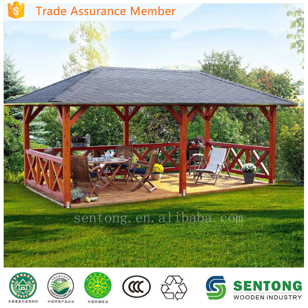 Spacious Wooden Gazebo