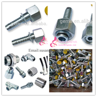DKOL DKOS hose fitting 20411female metric threaded pipe fitting hydraulic joint o ring cone fitting