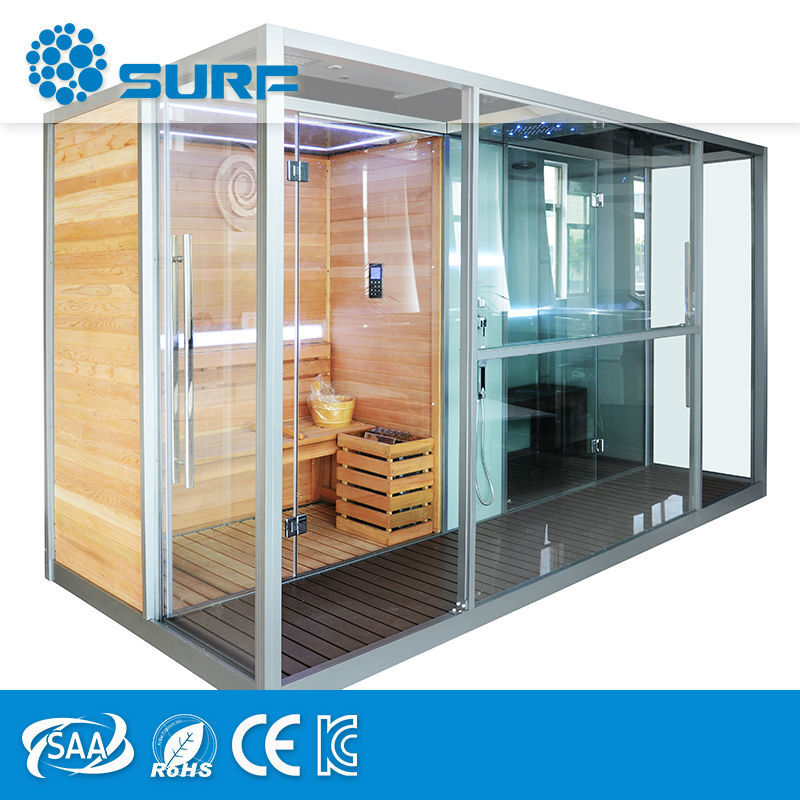 Top Quality Products 3 In 1 Computer Control Shower Sauna And Steam Combined Room